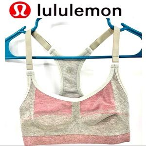 LULULEMON Pink/ Gray Reversible Shorts Bra